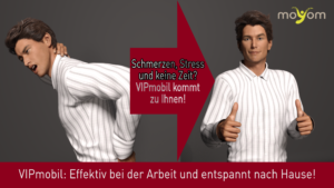 Mobile Massage und Emmett im Büro